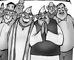 indian leaders cartoon